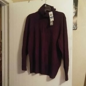 NWT DEEP PURPLE TURTLE NECK SWEATERSZ XL